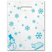 Small Scatter-Print Supply Bags, Snowflakes