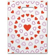 Small Scatter-Print Supply Bags, Hearts