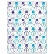 Large Scatter-Print Supply Bags, Snowman