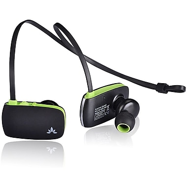 Avantree Sacool Lightweight Bluetooth Headphones with Microphone, Black/Green (BTHS-AS8-BLK)