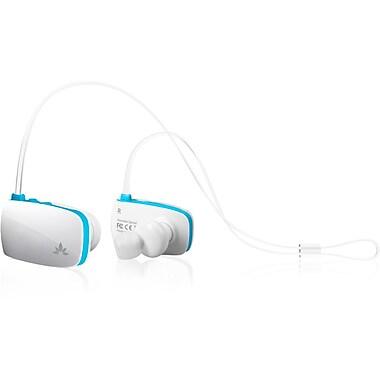 Avantree – Écouteurs Bluetooth légers avec microphone Sacool, Blanc/Bleu (BTHS-AS8-Q-WBU)