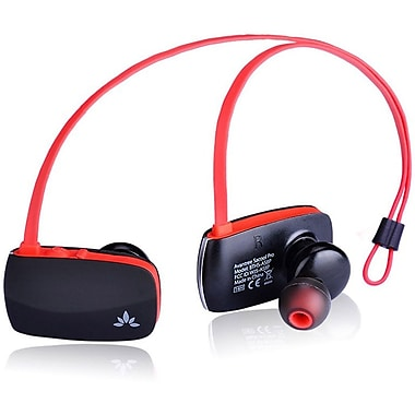 Avantree Sacool Pro Lightweight Bluetooth Headphones with Microphone and Aptx, Black/Red (BTHS-AS8P-BLK)