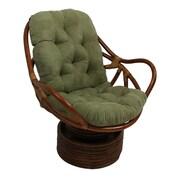 Blazing Needles Lounge Chair Cushion; Solid Twill - Sage