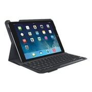 Logitech Type+ Keyboard And Folio Case - Wireless - 920-006909 - Black - For Apple iPad Air