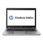 "HP P3E04UT#ABA 14"" HD+ Display, Intel Core i7 4600U, 256GB SSD, 8GB RAM, Windows, EliteBook Folio 9480m Notebook, Platinum"