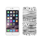 Centon OTM New Age Collection Case for iPhone 6 Plus, White Glossy, Waves