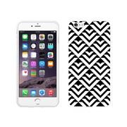 Centon OTM Black/White Collection Case for iPhone 6 Plus, White Glossy, Arrows