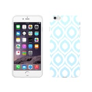 Centon OTM Elm Collection Case for iPhone 6 Plus, White Glossy, Sky Blue