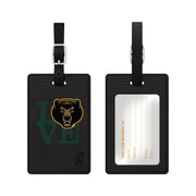 Centon Black Leather Love Bag Tag, Baylor University