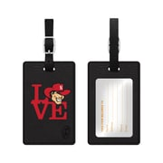 Centon Black Leather Love Bag Tag, University of Nebraska
