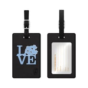 Centon Black Leather Love Bag Tag, University of North Carolina at Chapel Hill