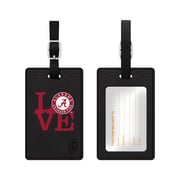 Centon Black Leather Love Bag Tag, University of Alabama
