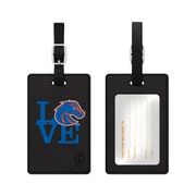 Centon Black Leather Love Bag Tag, Boise State University