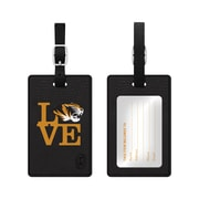 Centon Black Leather Love Bag Tag, University of Mississippi