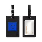 Centon OTM Monogram Leather Bag Tag, Inversed, Black, Marine C