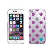Centon OTM Dots Collection Case for iPhone 6, Clear, Dark Violet