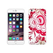 Centon OTM Paisley Collection Case for iPhone 6 Plus, White Glossy, Red