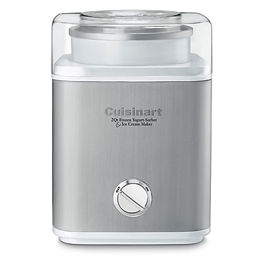 Cuisinart ICE30WC Stainless Steel Frozen Yogurt, Ice Cream & Sorbet Maker