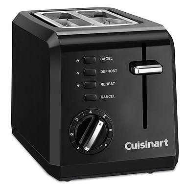 Cuisinart CPT-122BKC 2-Slice Compact Toaster, Black