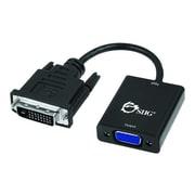 SIIG INC CB-DV0011-S2 7.48-inch DVI-D to VGA M/F Active Adapter Converter, Black (CB-DV0011-S2)
