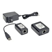 Tripp Lite RJ-45/Type-A USB Female/Female Cat5/Cat6 Extender Hub Kit, Black (B203-104-PNP)