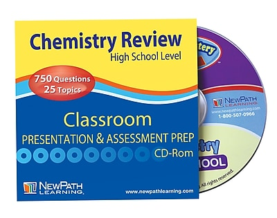 NewPath Learning High School Chemistry Review Interactive Whiteboard CD-ROM