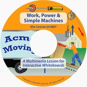 NewPath Learning Work, Power & Simple Machines Multimedia Lesson, Grade 6-8