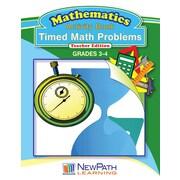Timed Math Problems Series Workbook Grade 4