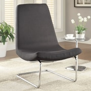 Wildon Home   Slipper Chair in Black