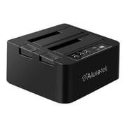Aluratek® USB 3.0 External SATA Hard Drive Dual Duplicator, Black
