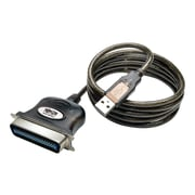 Tripp Lite 10' USB-A to Parallel Centronics 36 Male/Male Printer Cable, Gray