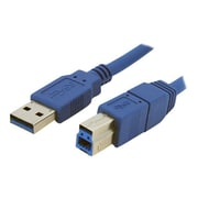 StarTech 1' Superspeed A To B Male/Male USB 3.0 Cable, Blue