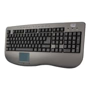 Adesso® AKB-430UG Win-Touch Pro USB Wired TouchPad Keyboard, Graphite