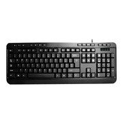 Adesso® AKB-132PB PS/2 Wired Multimedia Desktop Keyboard, Black
