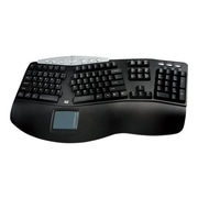 Adesso® PCK-308UB Tru-Form Pro USB Wired TouchPad Keyboard, Black