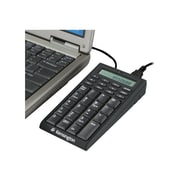 Kensington® USB Wired Notebook Keypad, Black