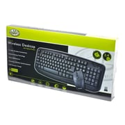 Gear Head™ KB5150W USB Wireless Keyboard & Laser Mouse, Black