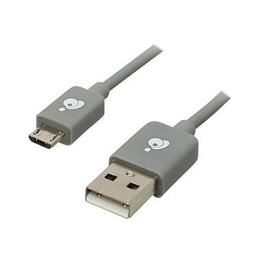 Iogear® 9.8' Type A Male USB To Type B Male Micro USB Charge & Sync Cable, Grey