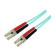 StarTech 16.4' LC To LC Multimode 50/125 Duplex LSZH Fiber Patch Cable, Aqua