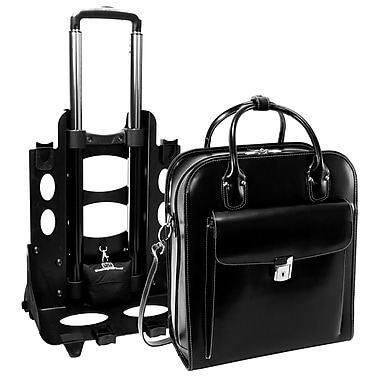 McKlein USA® La Grange W Series Black Leather 2-In-1 Vertical Ladies Briefcase For 15.4