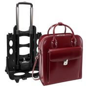 "McKlein USA® La Grange W Series Red Leather 2-In-1 Vertical Ladies Briefcase For 15.4"" Laptop"