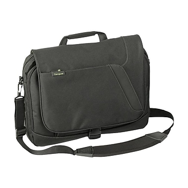 Targus® Spruce Ecosmart Black/Green Polyester Messenger Carrying Case For 15.6