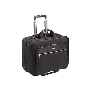 Case Logic® Black Leather/Nylon Checkpoint Friendly Rolling Carrying Case For 17in. - 17.3in. Laptop