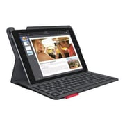 Logitech Type+ Keyboard And Folio Case - Wireless - 920-006912 - Black - For Apple iPad Air 2