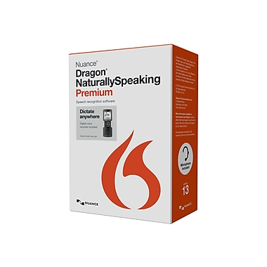 Nuance® Dragon Naturallyspeaking V.13.0 Premium Mobile Edition Software, 1 User, Windows, Dvd-Rom