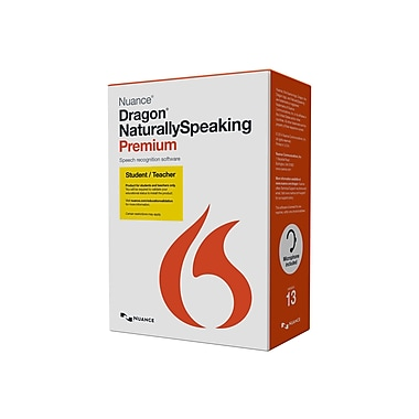 nuance dragon naturallyspeaking premium student teacher software 1 user windows dvd. Black Bedroom Furniture Sets. Home Design Ideas