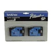 "Brother® TC33 0.47"" Laminated Tape Cartridge, Gold On Black, 2/Pack"