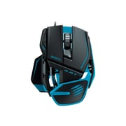 Mad Catz® R.A.T. TE USB 2.0 Wired Laser Gaming Mouse, Blue