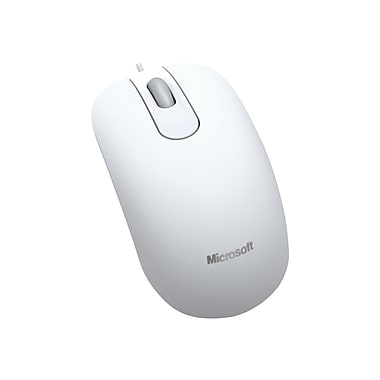Microsoft® 35H-00005 USB Wired Optical Mouse, White