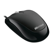 Microsoft® 4HH-00001 USB Wired Optical Mouse, Black